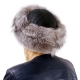 Silver Fox Fur Roller Hat with Sheepskin Top