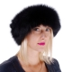 Genuine Black Fox Fur Headband Fur Ear Warmer