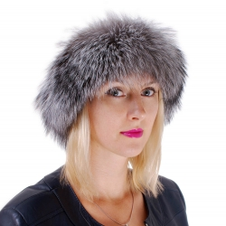 Genuine Silver Fox Fur Headband Fur Ear Warmer