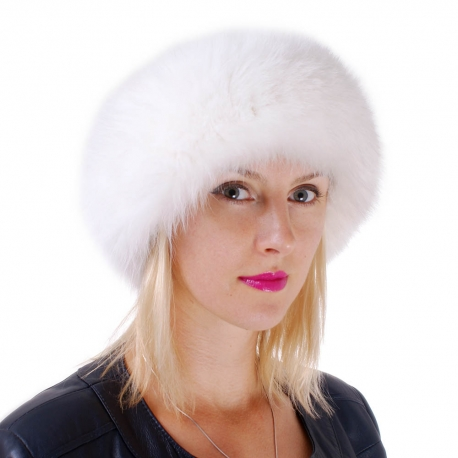 Genuine White Fox Fur Headband Fur Ear Warmer