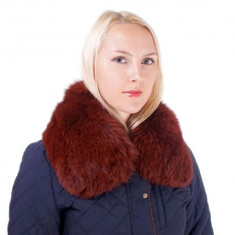 Limited Edition - Gold Fox Fur Short Collar Wrap