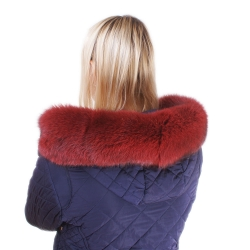 Limited Edition - Red Fur For Hood Fox Fur Hood Trim