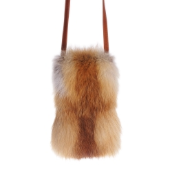 Limited Edition - Red Fox Fur Shoulder Bag