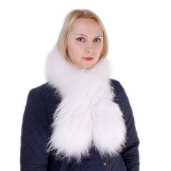Limited Edition - White Raccoon Fur Scarf Shawl
