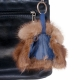 Mini Fur Jacket Coat Bag Charm Keyring