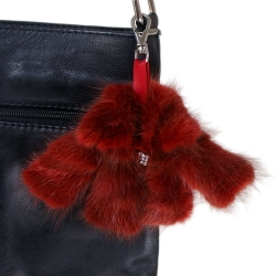 Fur Bag Charm Keyring Mini Fur Jacket Coat