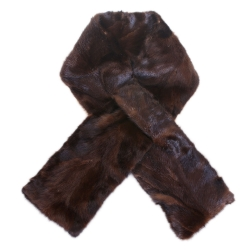 Limited Edition - Brown Mink Fur Scarf Shawl Wrap