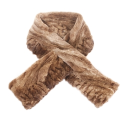 Limited Edition - Light Brown Mink Fur Scarf Shawl