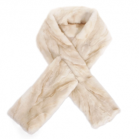 Limited Edition - Creamy Colour Mink Fur Scarf Shawl