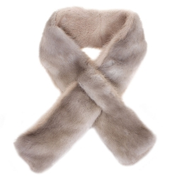Limited Edition - Grey Mink Fur Scarf Shawl