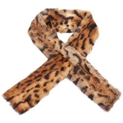 Limited Edition - Rabbit Fur Scarf in Ocelot Pattern