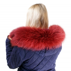 Limited Edition - Red Raccoon Fur Hood Trim