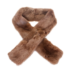 Limited Edition - Light Brown Mink Fur II Scarf Shawl