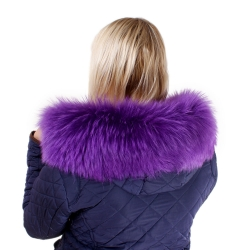 Limited Edition - Purple Raccoon Fur Hood Trim