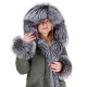 Parka with Hood, Cuffs and Front of Silver Fox Fur