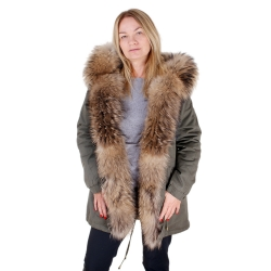 Parka with Hood and Front of Finn Raccoon Fur