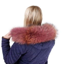 Limited Edition - Pink Raccoon Fur Hood Trim II