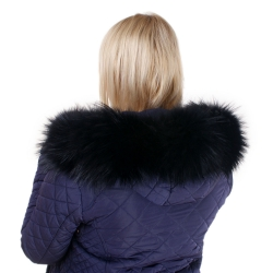 Limited Edition - Black Raccoon Fur Hood Trim