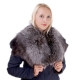 Genuine Silver Fox Fur Stole Cape Collar Wrap