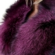 Limited Edition - Dyed Pink Silver Fox Fur Collar Stole