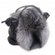 Silver Fox Fur Cover For Bag / Fur Mantle / Fur Veil
