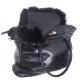 Black Fox Fur Cover For Bag / Fur Mantle / Fur Veil