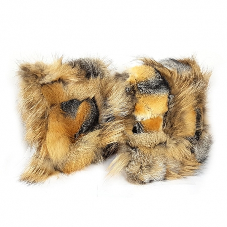 Set Of Two Genuine Fox Fur Pillows Cushions 40x40cm Fox