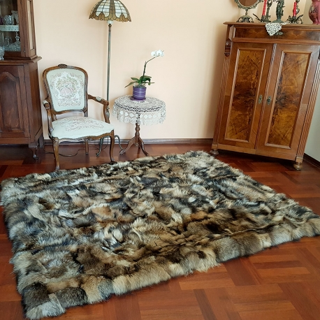 Fur Carpet Fur Coverlet Blanket of Finn Raccoon Fur
