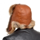 Genuine Men's Red Fox Fur Hat I Fur Bomber Hat