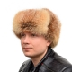 Genuine Men's Red Fox Fur Hat II Fur Ushanka Hat