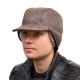 Genuine Men's Beige Sheepskin Cap II Bomber Cap