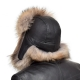 Genuine Men's Raccoon Fur Hat I Fur Bomber Hat