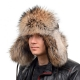 Genuine Men's Raccoon Fur Hat II Fur Ushanka Hat