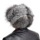 Genuine Men's Silver Fox Fur Hat I Fur Bomber Hat