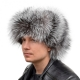 Genuine Men's Silver Fox Fur Hat II Fur Ushanka Hat