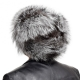Genuine Men's Silver Fox Fur Hat III Fur Ushanka Hat