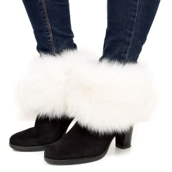 Genuine White Fox Fur Boots Covers Fur Shoes Sleeves