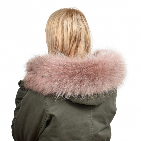 Limited Edition - Pink Raccoon Fur Hood Trim