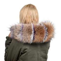 Raccoon Fur Hood Trim Fur Collar Fur For Hood (73cm)