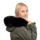 Black Fox Fur Hood Trim Fur Collar Fur For Hood