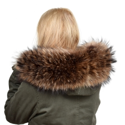 Limited Edition - Dyed Raccoon Fur Hood Trim (68cm)