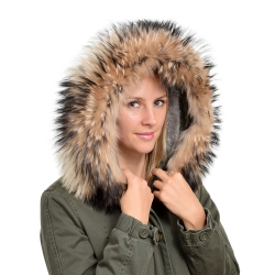 XXL Raccoon Fur Hood Trim Fur Collar Fur For Hood