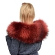 Limited Edition - Red Raccoon Fur Collar