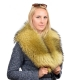 Limited Edition - Yellow Raccoon Fur Collar