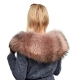 Limited Edition - Pink Raccoon Fur Collar Wrap