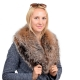 Limited Edition - Dyed Silver Fox Fur Collar Stole