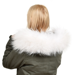 Limited Edition - White Raccoon Fur Hood Trim