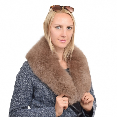 Limited Edition - Light Brown Fox Fur Collar Stole