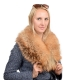 Limited Edition - Gold Fox Fur Collar Stole Wrap