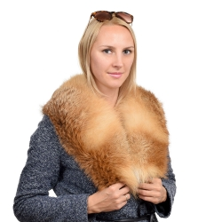 Genuine Red Fox Fur Collar Wrap Shawl Stole
